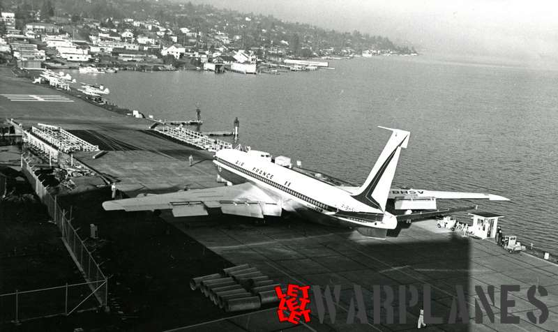 Boeing 707 Air France F-BHSV landing at Seattle