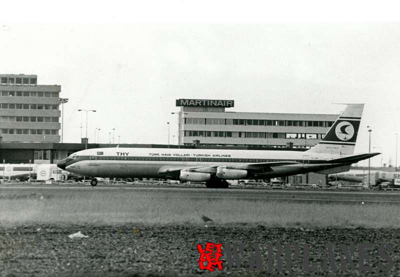 Boeing 707 Turkish Airlines TC-JAM, Schiphol