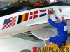 General Dynamics F-16A no.75-0745 demonstrator detail nose with flags