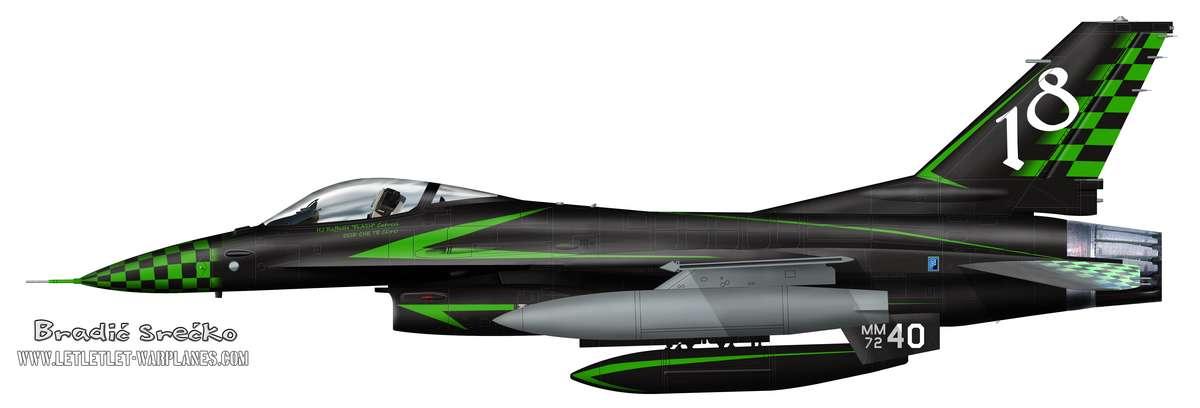 F-16A Italia crni 18