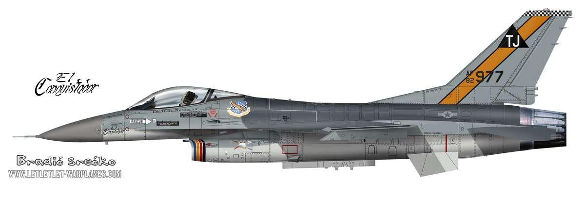F-16A US TJ 977