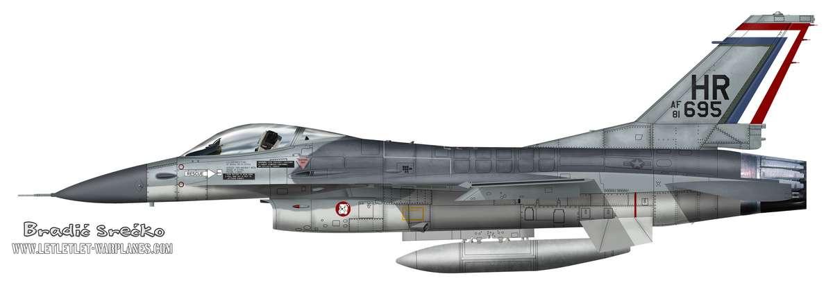 F-16A USAF HR 695