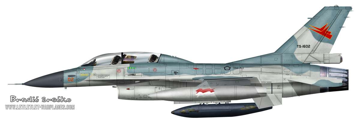 F-16B Indonesia TS-1602