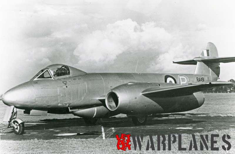 Gloster Meteor F.4 R.R. Avon test bed RA491_2