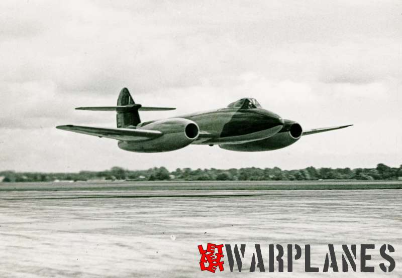 Gloster Meteor F.4 low level flight