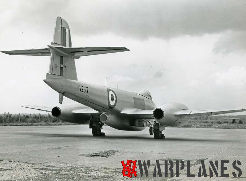Gloster Meteor F.8 VZ 517 with the Armstrong-Siddeley Screamer rocket engine.