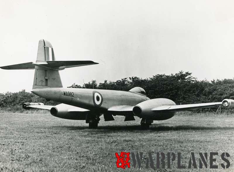 Gloster Meteor F.8 WA982 Rolls Royce Soar test bed_3