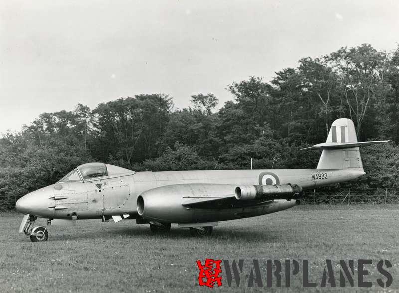 Gloster Meteor F.8 WA982 Rolls Royce Soar test bed_5
