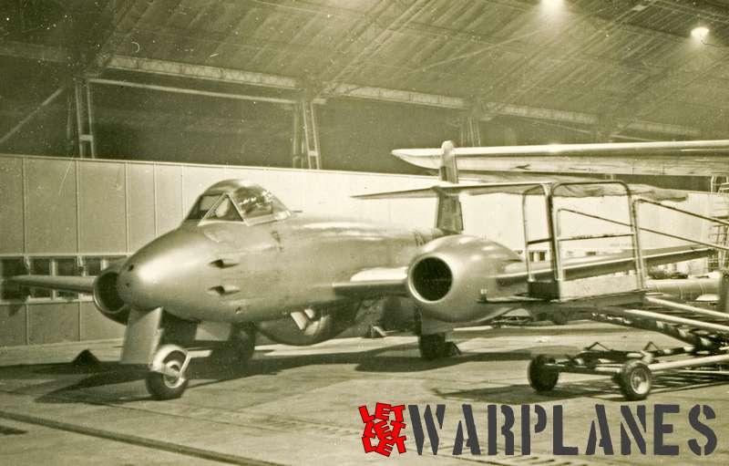 Gloster Meteor F.8 inside hangar