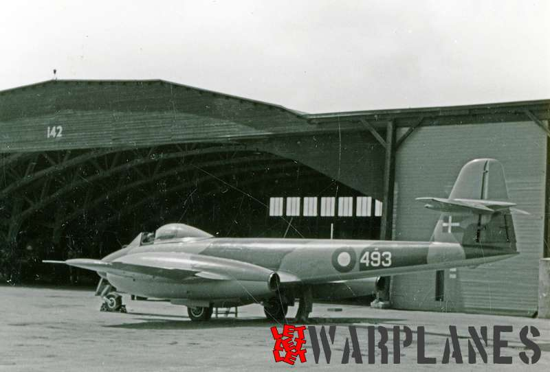 Gloster Meteor F.8 no. 493 Danish air force