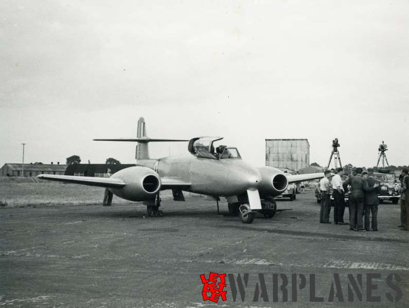 Gloster Meteor T.7 WA634 Martin Baker ejection seat test plane_1