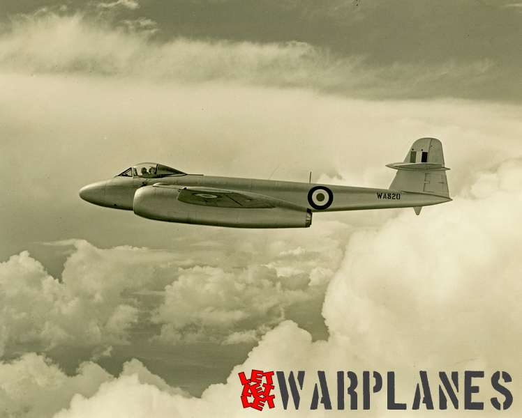Gloster Meteor WA820 Armstrong Siddeley Sapphire test bed_2
