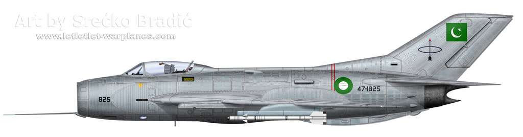 17-Shenyang F-6 Pakistan 47-1825