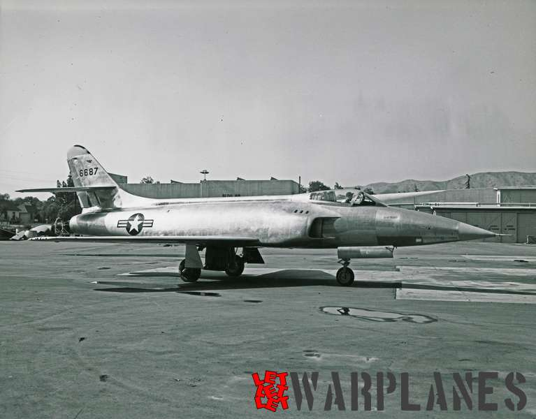 Photo 3 Lockheed XF-90 no. 46-687 side view on platform