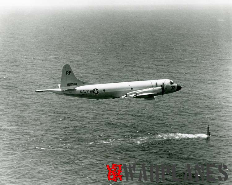 Lockheed P-3A Orion BuNo. 150518 of VP-31 following diving submarinw