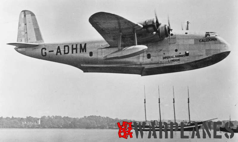 Short S.23C Empire G-ADHM 'Caledonia' Imperial Airways_1
