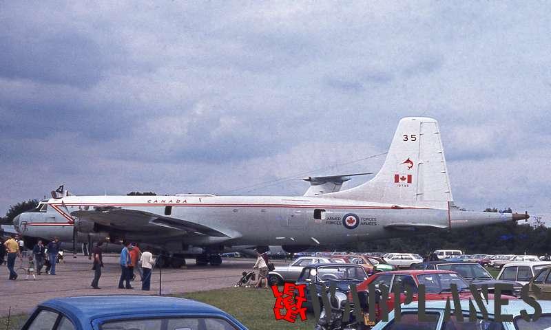 Canadair CL.44 Argus no. 10735 I. A.T. RAF Greenham Common 1979