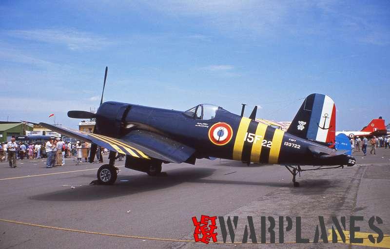 Chance Vough F4U-7 no. 133722 (NX1337A) Aéronavale