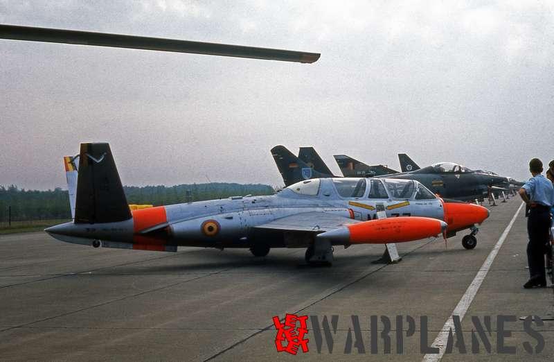 Fouga CM.170 Magister MT-33Belgian air force
