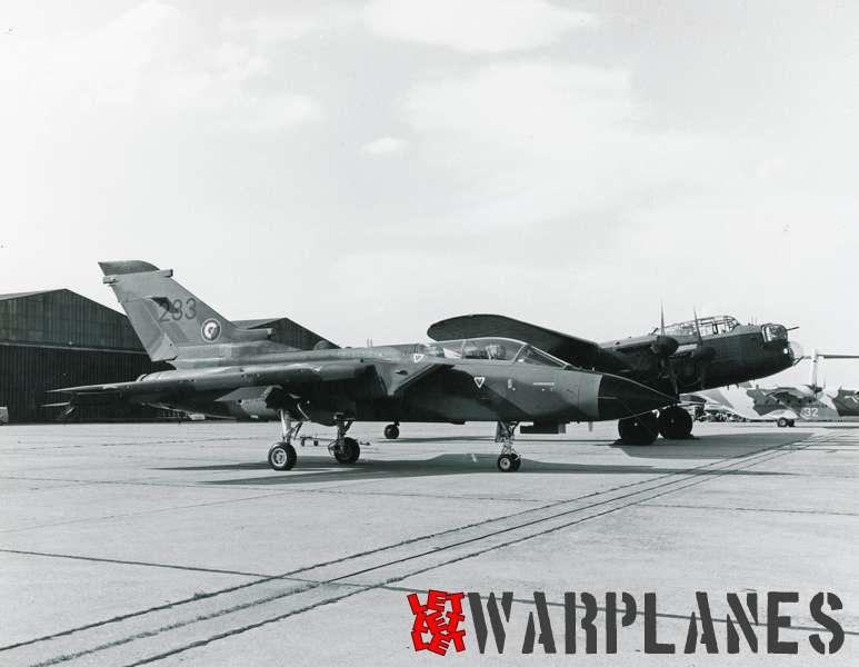 Panavia Tornado no. 233 with BBMF Avro Lancaster