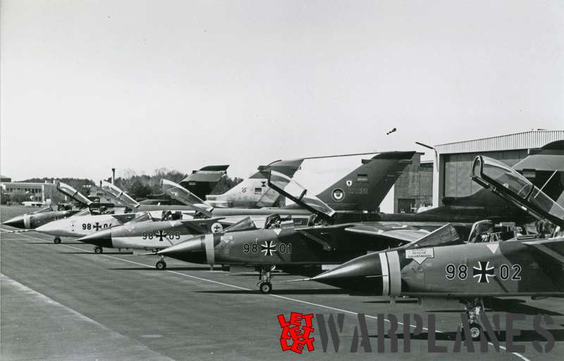 Panavia Tornado row on platform, German Luftwaffe
