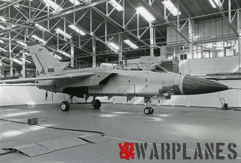 Panavia Tornado st prototype air defence varianat (ADV) nearing completion at BAé Warton