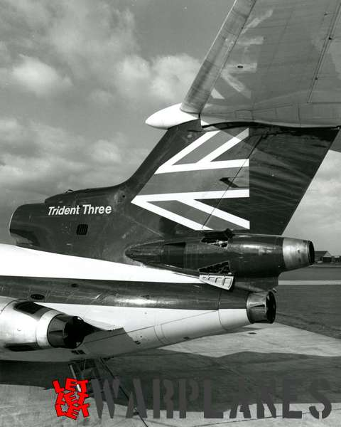 Hawker Siddeley Trident Three B.E.A. detail tail section_1