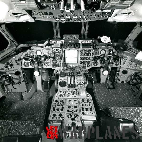 Hawker Siddeley Trident Three cockipit interior