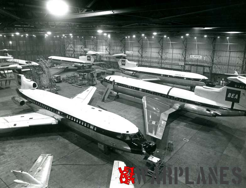 Hawker Siddeley Trident for delivery to B.E.A. at Hatfield