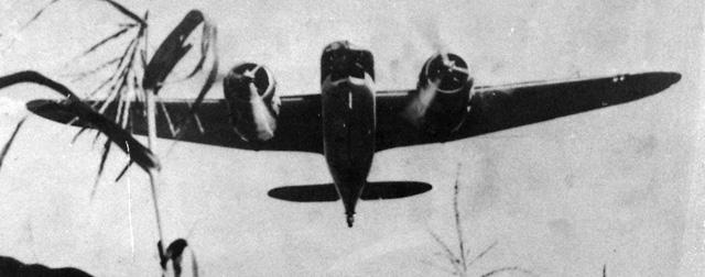Blenheim in flight