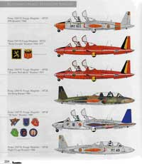 Fouga Magister color profiles