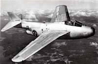 SAAB J-29 Tunnan in flight
