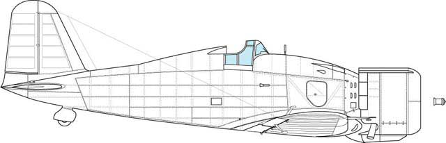 Converted prototype for the main manufacture series, Tetuccio Apperto. Feature- all major external details as first production block with converted canopy and rear section of the fuselage, behind the cockpit.