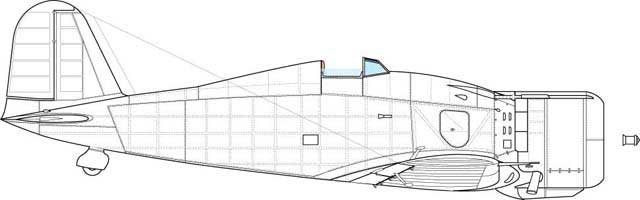 Starboard side of the same model. Feature- different panel of the engine cowling.