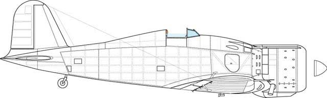 "Starboard sde view of the above variant. Feature- new panels on the fuselage specific for the ""bis\"" model."