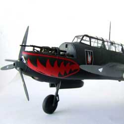 Messerschmitt Bf110 scale model Eduard