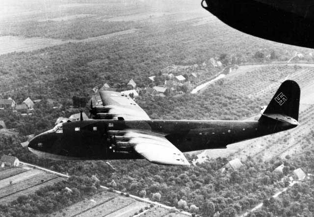 Works picture of the BV-222V1 in flight