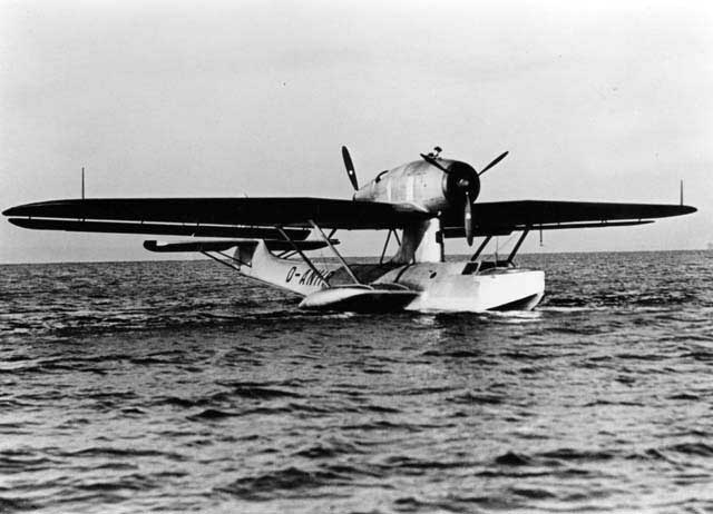 The singe Do-18L D-ANHR, fitted with radial engines
