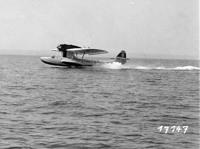 This Dornier works photographs shows the start of the Do-18V1