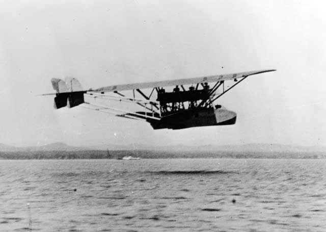 A Dornier works shot of the RS-II flying above the water