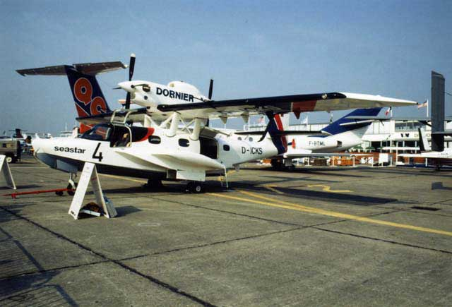 The Second Seastar, photographed in June 1989 at the Salon Aeronatique, Le Bourget