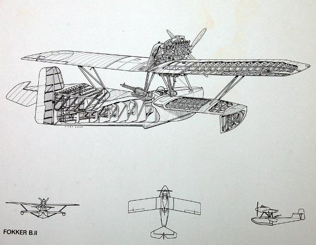 Fokker B.2 drawings