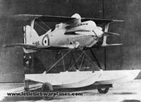 This photo shows the second Gloster III N195 fitted with additional wing flush-type radiators and a partly enclosed cockpit.