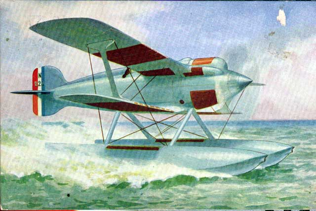 On the photo we see a rare pre-war colour postcard illustration of the N222