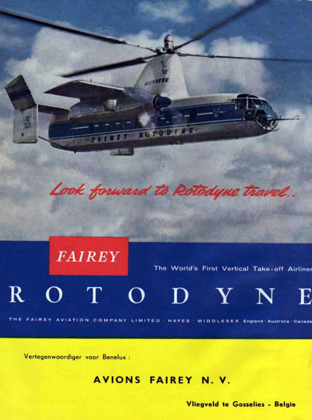 Fairey Rotodyne advertizing
