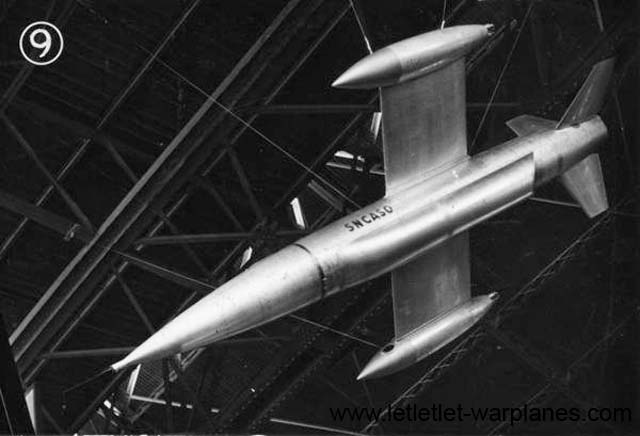 Model of an unmanned all-rocket version of the Trident as shown in 1955 at the Paris Airshow at Le Bourget. It was never built.