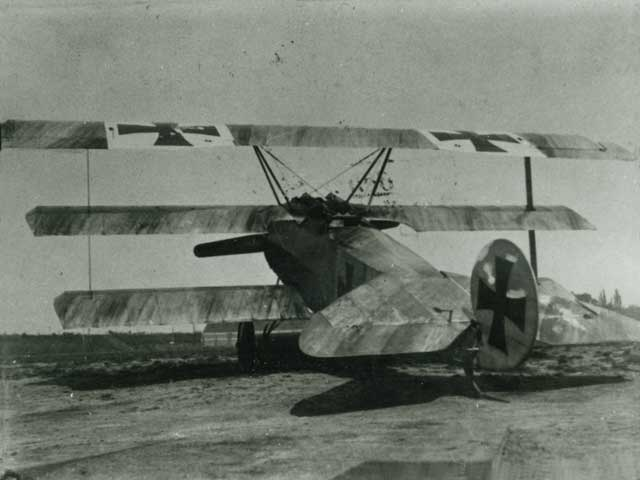 Rear view of the Voss triplane