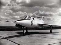 The first SR.53 XD145 at Boscombe Down shortly before its first flight (Saunders Roe photo).