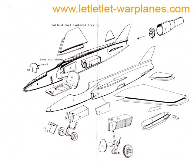 The layout of all parts of the Aeroclub kit. It is all quite straight-forward!
