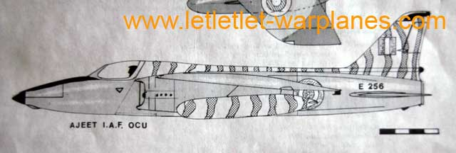 Colour scheme for the Indian Ajeet as given in the instructions for use. The kit needs some modification for this version!